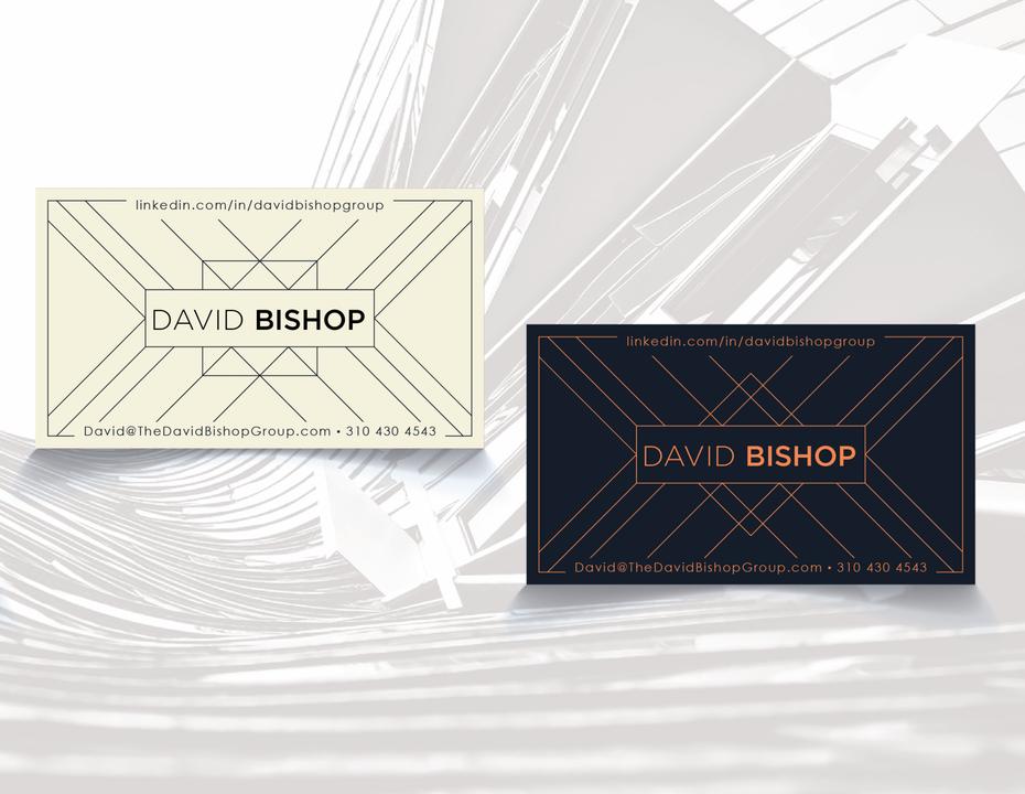Тенденции визитных карточек 2020 год: визитная карточка Дэвида Бишопа