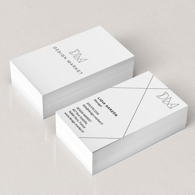 Тенденции визитных карточек 2020 г. Пример: дизайн черно-белой визитной карточки