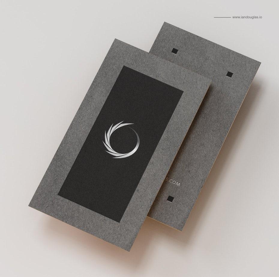 """Пример трендов визитных карточек 2020: черная рамка с серой каймой """"width ="""" 1845 """"height ="""" 1830"""