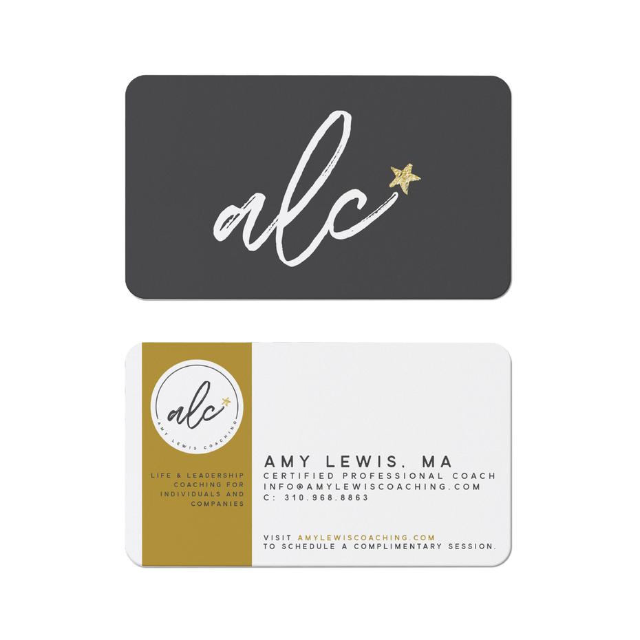 Тенденции визитных карточек 2020 год: визитная карточка alc coaching