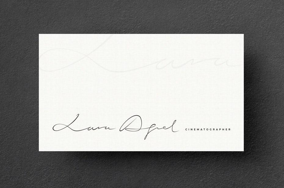 Тенденции визитных карточек 2020 года: визитная карточка кинематографиста lara aqel