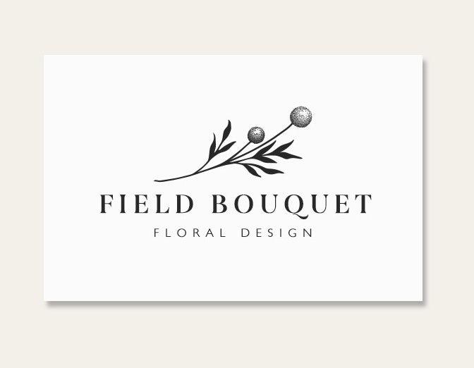 Пример тенденций визитных карточек 2020: цветочная открытка полевого бутика