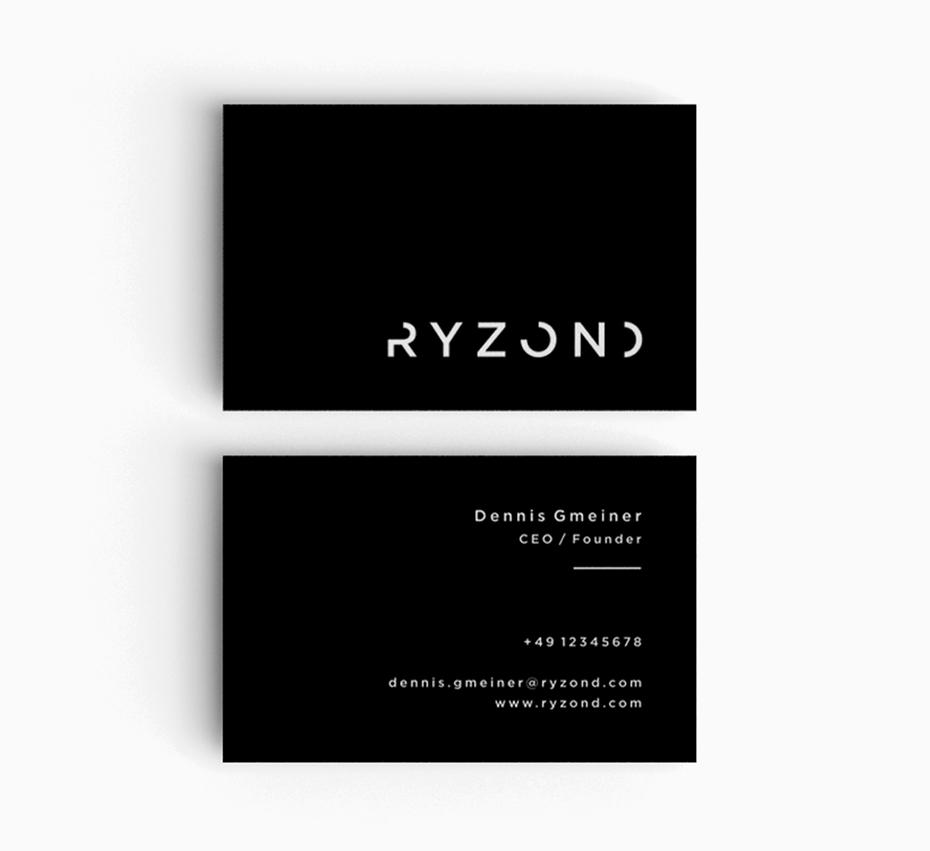 Тенденции визитных карточек 2020 года: черно-белая визитка