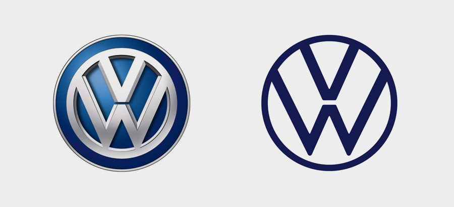 "Эволюция логотипа Volkswagen ""title ="" Эволюция логотипа Volkswagen ""/> </p> <h4 id="