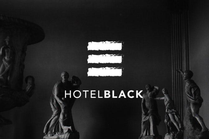 Коллекция элементов брендинга для отеля Black