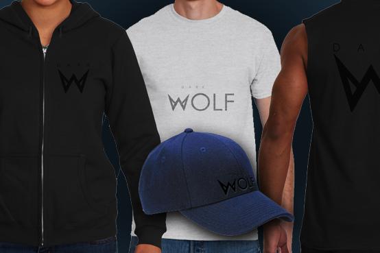 Коллекция мужских торсов с изображением разных рубашек DARK WOLF