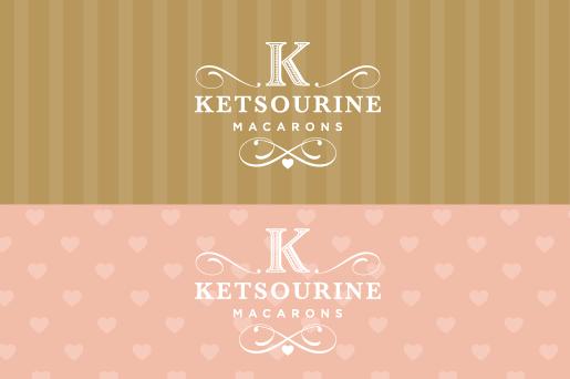 Коллекция вариаций логотипов и моделей, отображающих цветовую палитру Ketsourine