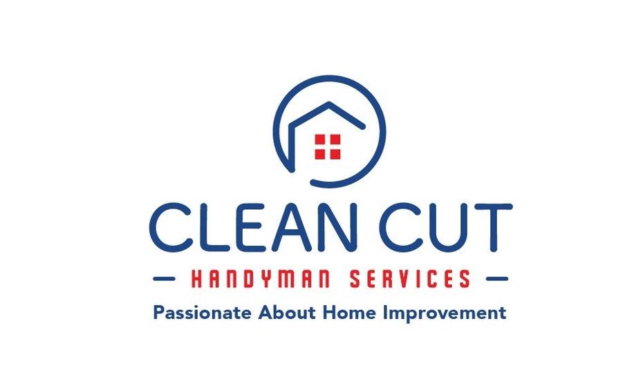 """Геометрические логотипы для Clean Cut Handyman Services """"width ="""" 973 """"height ="""" 578 """