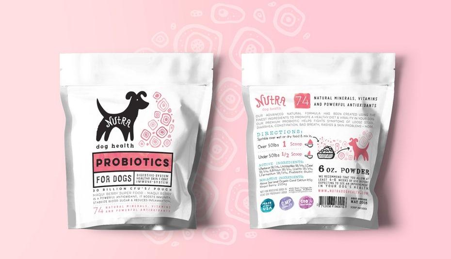 """Пробиотическая упаковка для розовых, белых и черных собак """"width ="""" 1979 """"height ="""" 1137"""