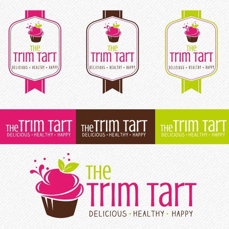 Цветовая палитра, шрифт и альтернативные логотипы для Trim Tart