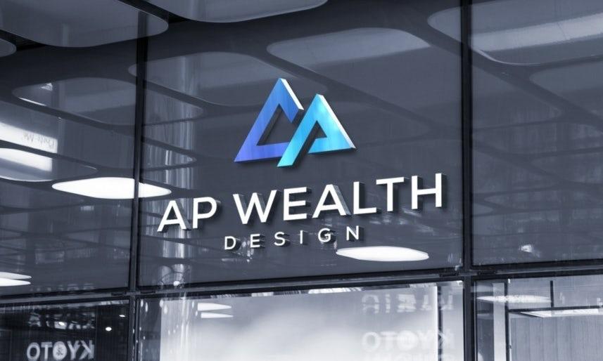 Логотип, цвета, формы и шрифт для AG Wealth