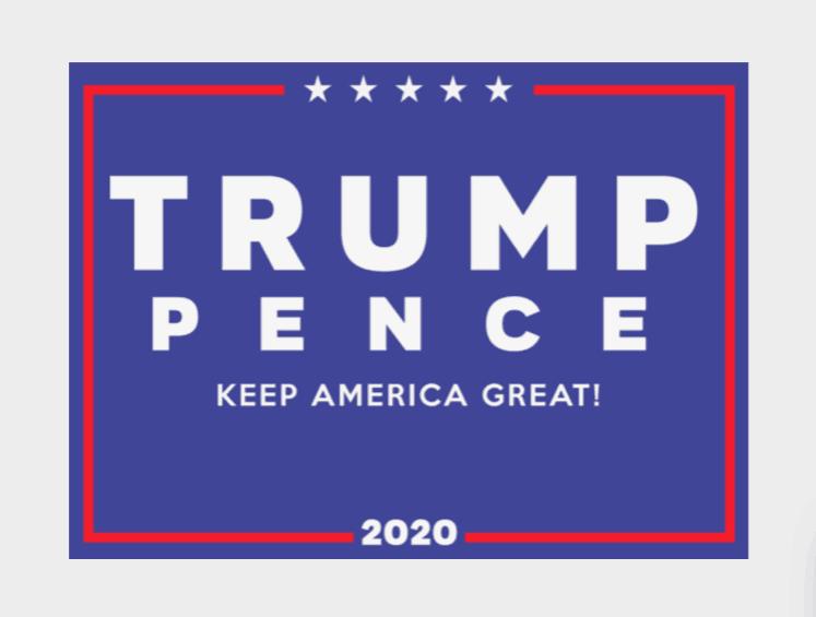 Логотипы кандидатов в президенты 2020 года: Дональд Трамп
