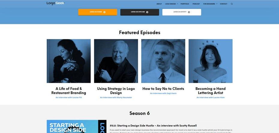 Веб-сайт LogoGeek