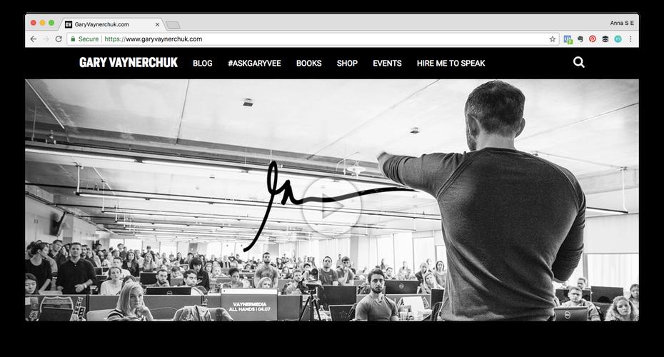 """Пример личного бренда: Снимок экрана сайта Гари Вайнерчука """"width ="""" 1472 """"height ="""" 792 """"/>    <figcaption> В мире бизнеса есть персонажи, которые крупнее жизни. Они освоили искусство личного брендинга, и они точно знают, кто они и что делает их уникальными. Гари Ви (Вайнерчук) является ярким примером </figcaption></figure> <div id="""
