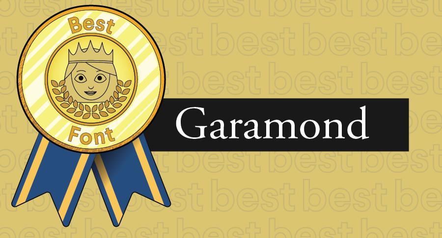 """Иллюстрированная награда за лучшие шрифты в сочетании с гарнитурой Garamond """"width ="""" 900 """"height ="""" 485 """"/>    <figcaption> Garamond — это классический шрифт, потому что он элегантен и разборчив при разных размерах. </figcaption></figure> <p> Шрифты, которые выдержали испытание временем, как и Garamond, остаются популярными у дизайнеров, потому что они разборчивы в различных размерах, цветах и композициях. Без засечек особенно хороши в сохранении разборчивости нет независимо от контекста: отсюда и стойкость таких шрифтов, как Helvetica. </p> <h2><span id="""