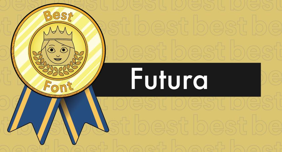 """Иллюстрированная награда за лучшие шрифты в сочетании с гарнитурой Futura """"width ="""" 900 """"height ="""" 485 """"/>    <figcaption> Futura — чистый шрифт с равномерным кернингом </figcaption></figure> <h3><span id="""
