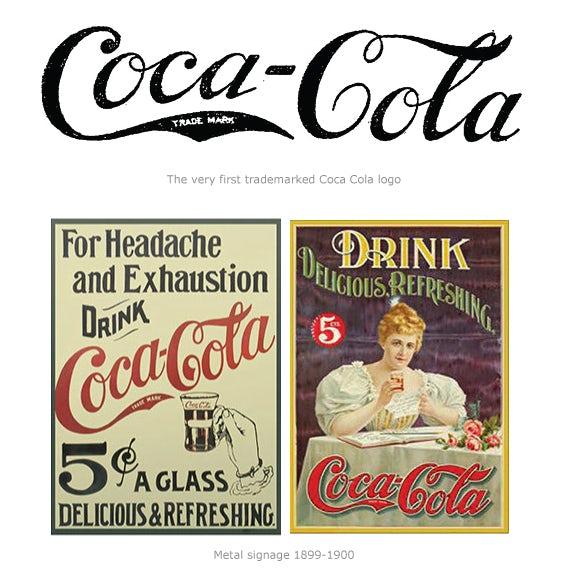 """Логотип Coca-Cola и две винтажные рекламные объявления Coca-Cola """"width ="""" 570 """"height ="""" 580"""