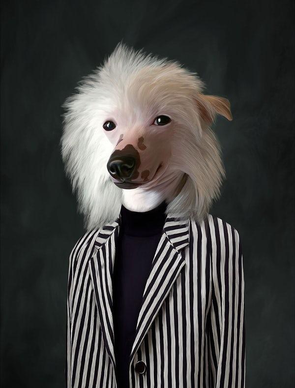 Портрет собаки Сату Пелконена