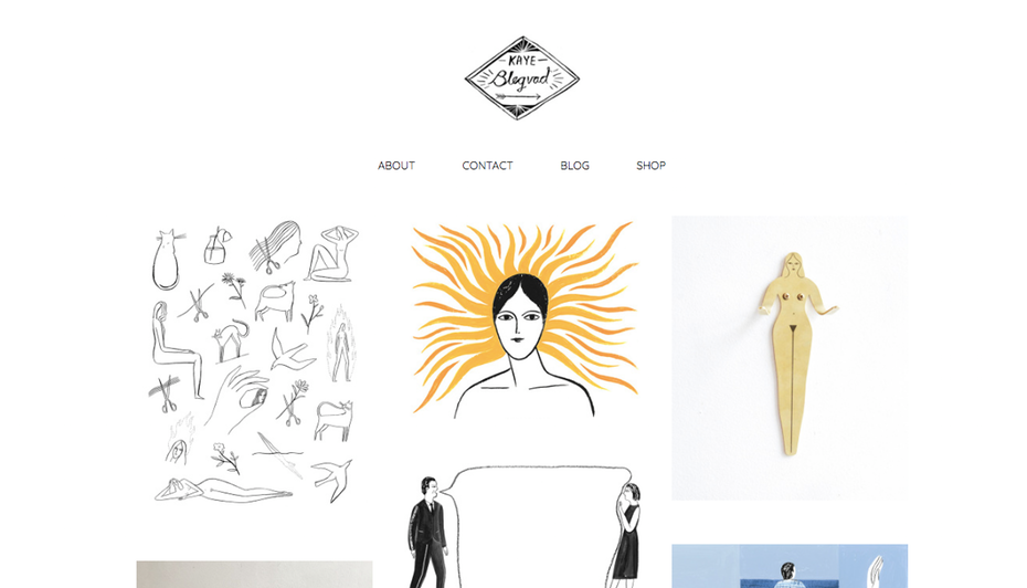 """Пример портфолио графического дизайнера: веб-сайт портфолио Kaye Blegvad """"width ="""" 1174 """"height ="""" 671 """"/>    <figcaption> Легко ориентироваться в портфолио дизайнеров, автор Kaye Blegvad </figcaption></figure> <p> Prolific illustrator Кей Блегвад, ставший ювелирным дизайнером, старается продемонстрировать разнообразие своей работы: от статичных иллюстраций до фотографических поделок и небольших анимаций, чтобы вы никогда не заскучали, прокручивая ее очаровательное портфолио. в заголовке ее портфолио веб-сайт также делает для личного контакта. </p> <h3><span id="""