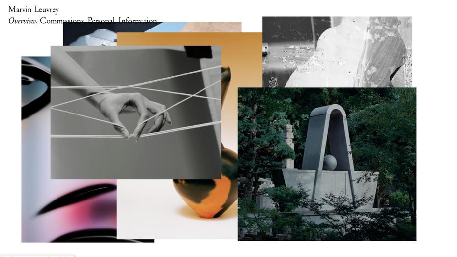 """Веб-сайт портфолио Марвина Леври """"width ="""" 1425 """"height ="""" 801 """"/>    <figcaption> Инновационный интерфейс веб-сайта коллажа. Автор Marvin Leuvrey </figcaption></figure> <p> Многократный отмеченный наградами французский фотограф Marvin Leuvrey известен своими редакционными изображениями для влиятельных домов моды Вирджила Аблоха, Эрмеса и Кензо.Чтобы подчеркнуть это, Марвин Леври выложил свой сайт-сайт в элегантном журнальном стиле и использует умный интерактивный коллаж на своей домашней странице, чтобы показать свою работу. Когда вы перемещаете курсор по его странице обзора, появляется новая фотография, создавая ощущение, будто с каждым галочкой создается новое произведение искусства коллажей. </p> <h3><span id="""