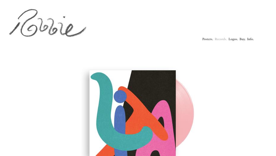 """Пример портфолио графического дизайнера: веб-сайт портфолио Робби Саймона """"width ="""" 1433 """"height ="""" 811 """"/>    <figcaption> Минимальное портфолио графического дизайна Робби Саймона </figcaption></figure> <p> Другой создатель волны На сцене инди-музыки работает Робби Саймон из Лос-Анджелеса. Работает в таких группах, как Аллах Лас и Кевин Морби, его работы охватывают множество дизайнов пластинок, постеров и логотипов. Его набросанный логотип добавляет простую и легкую атмосферу в остальном. современный и минимальный интерфейс портфолио. </p> <h3><span id="""