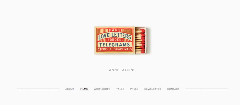 """портфолио графического дизайнера: веб-сайт портфолио Энни Аткинс """"width ="""" 1196 """"height ="""" 523 """"/>    <figcaption> веб-сайт портфолио графического дизайна, автор Annie Atkins </figcaption></figure> <p> Annie Atkins У нее одна из самых крутых вакансий в отрасли: разрабатывая графические реквизиты для фильмов Уэса Андерсона, таких как Grand Budapest Hotel и Isle of Dogs, она создает красивые, очень подробные и часто миниатюрные реквизиты для фильмов. Ее веб-сайт портфолио использует индивидуальный подход, начиная с фотография художника и начало интервью. Когда она делится своими мыслями о великолепии своей работы, ее теплый и разговорный тон приглашает посетителей в ее волшебный мир. Ее книга «Ложные любовные письма», «Подделанные телеграммы» и «Карты побега из тюрьмы» выходит в феврале 2020 и обещает раскрыть вам еще больше ее секретов. </p> <h3><span id="""