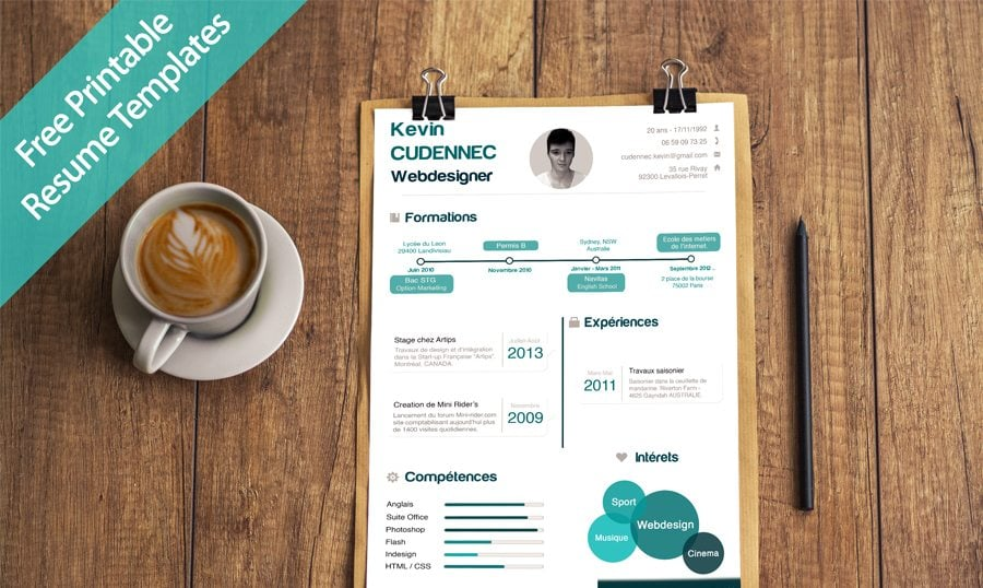 unique-printable-resume-designs