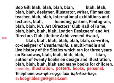"""Веб-сайт портфолио Боба Гилла """"width ="""" 460 """"height ="""" 333 """"/>    <figcaption> Веб-сайт с забавным портфолио Боба Гилла </figcaption></figure> <p> Только партнер-основатель Pentagram, международный лектор , Зал славы художественных директоров Нью-Йорка, лауреат премии Lifetime Achievement Award, со-дизайнер Beatlemania и автор двадцати книг по дизайну, может получить удовольствие от такого простого, юмористического веб-сайта портфолио. Он оба излагает свой длинный список достижений, в то же время дерзко отклоняя его. они создают у посетителей впечатление уверенного дизайнера, который не любит (или не хочет) хвастаться. </p> <p> Такое же чувство юмора присутствует во всех дизайнерских работах, представленных на сайте, и сам сайт интересно исследовать. Даже URL-адрес веб-сайта Боба Гилла дает намек на его печально известный сарказм: bobgilletc. Как и хорошая книга, первая страница заставляет вас читать дальше, любопытно узнать больше о человеке, стоящем за словами. </p> <h3><span id="""