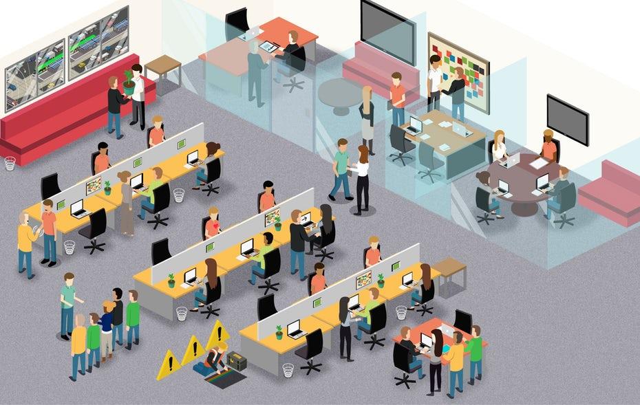 """изометрическая иллюстрация корпоративной культуры с командами, работающими вместе в офисе """"width ="""" 2560 """"height ="""" 1622 """"/>    <figcaption> У каждой организации есть своя корпоративная культура. Это отражается в том, как люди организация работает вместе и относится друг к другу. Иллюстрация AndresEs. </figcaption></figure> <div class='code-block code-block-2 ai-viewport-1 ai-viewport-2' style='margin: 8px 0; clear: both;'> <div  class="""