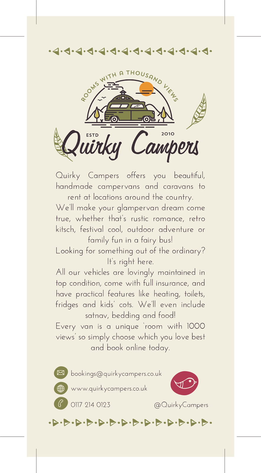 """Дизайн флаера Quirky Campers """"width ="""" 884 """"height ="""" 1600"""