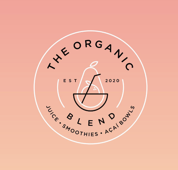 "Логотип пищевой марки: Organic Blend ""width ="" 573 ""height ="" 546"