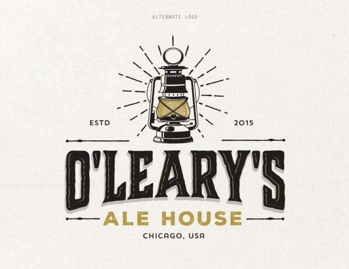 """Логотип продуктового бренда: O'Leary's Ale House """"width ="""" 697 """"height ="""" 537"""