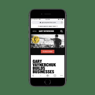 Мобильный сайт Гари Вайнерчука