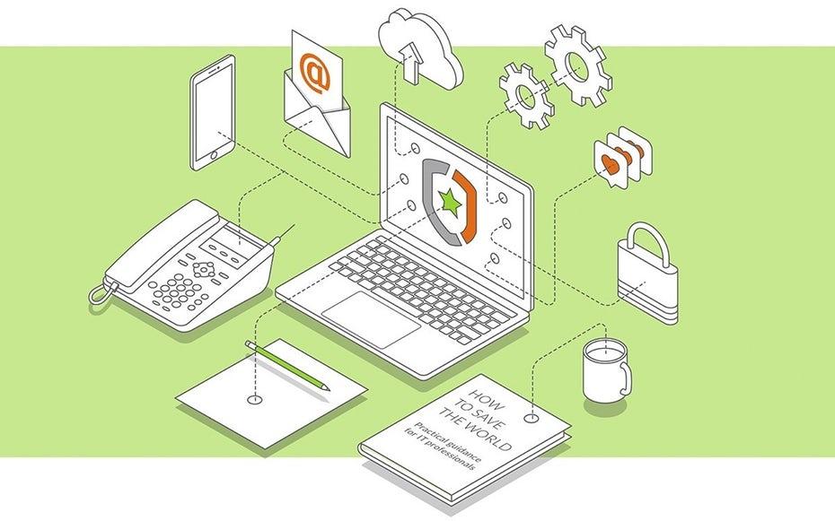 """изометрическая иллюстрация с ноутбуком, электронной почтой, бумагами и телефоном, соединенными линиями """"width ="""" 1200 """"height ="""" 750 """"/>    <figcaption> Иллюстрация DreamMaster </figcaption></figure> <p> Ключевой компонент для успешной работы на дому есть специальное рабочее место, будь то свободная комната, переделанный гараж, юрта или подвесное гнездо, назначьте определенное место для работы и <em> только </em> работа. </p> <blockquote class="""