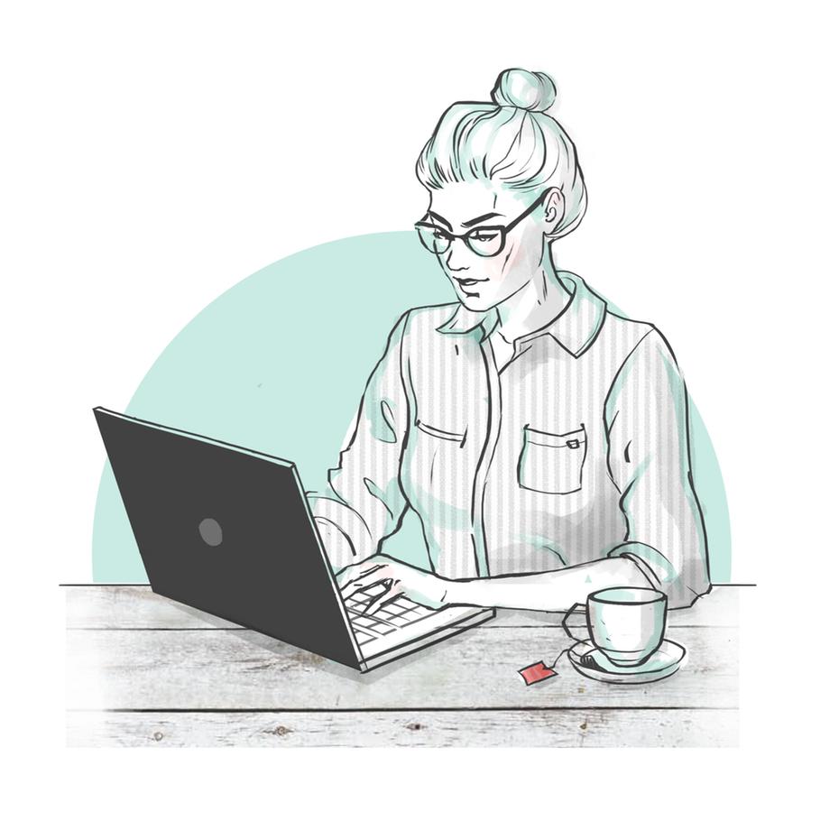 """женщина, работающая за ноутбуком с чашкой чая рядом с ней """"width ="""" 2000 """"height ="""" 2000 """"/>    <figcaption> Иллюстрация crabbic </figcaption></figure> <p> Обратите внимание, в какое время днем вы наиболее продуктивны и строите свой график на основе этого. Нет необходимости заставлять себя становиться утренним человеком, если вы чувствуете себя более продуктивным ночью. </p> <p> Чтобы начать свой рабочий день, неплохо бы подготовиться так, как если бы вы отправились в офис. Так что вылезай из пижамы, почисти зубы, прими душ и оденься, чтобы дать понять мозгу, что пора начинать день и работать. </p> <p> Составьте расписание на основе видов выполняемой работы и местонахождения ваших клиентов или коллег. Если вы работаете в компании в своем часовом поясе, планируйте свой рабочий день в нерабочее время. С другой стороны, если вы фрилансер, работающий с клиентами в различных часовых поясах и странах, вам может потребоваться планировать более короткие отрезки времени в течение дня, а не один большой 8-часовой блок. Когда это возможно, назначайте время, которое совпадает с вашими коллегами и клиентами на ежедневной или еженедельной основе. </p> <p> Д-р. К. Андерс Эрикссон, профессор психологии в Университете штата Флорида, обнаружил, что лучшие исполнители обычно работают в непрерывном режиме, не более 90 минут за один раз. </p> <h2><span id="""