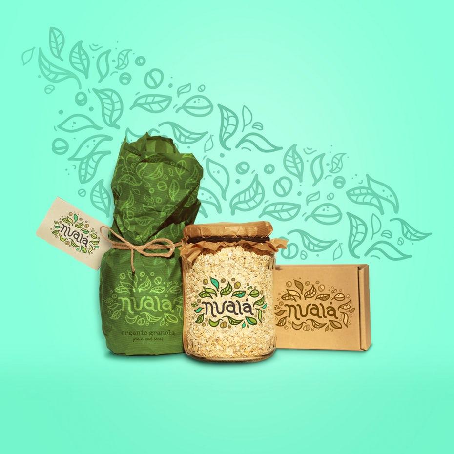 """Granola Food Branding Design """"ширина ="""" 2040 """"высота ="""" 2040"""