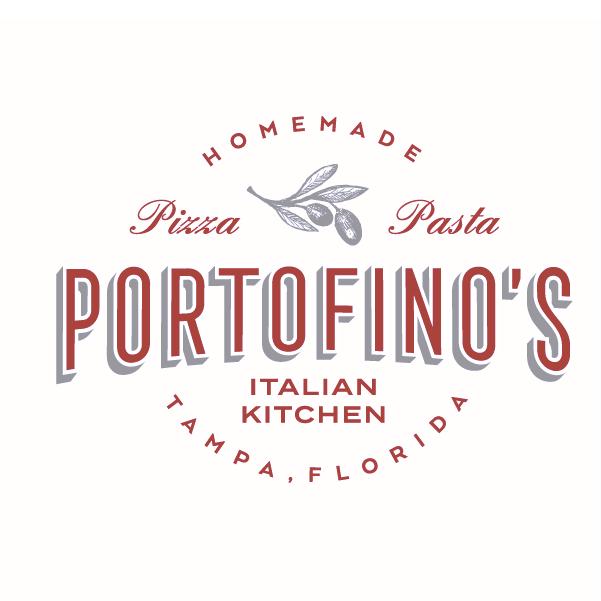 """Логотип продуктового бренда: итальянская кухня Портофино """"width ="""" 601 """"height ="""" 601"""
