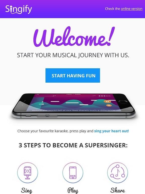 пурпурно-белая электронная почта для отправки