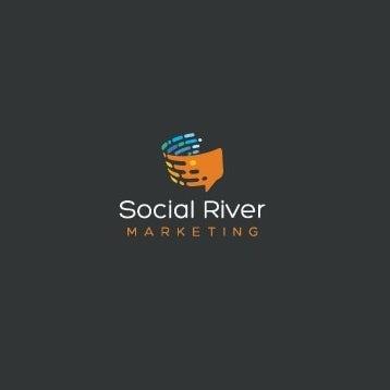 Логотип цифрового маркетингового логотипа на тему речи