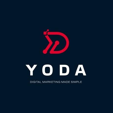 Логотип цифрового маркетинга с технологической тематикой
