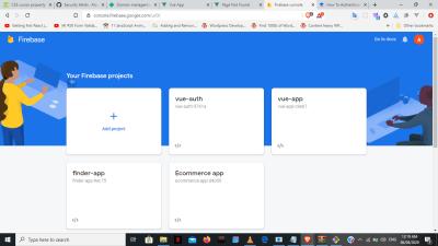 Создание новых проектов Firebase