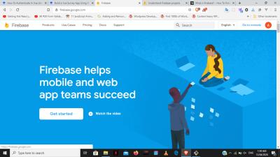 Целевая страница Firebase