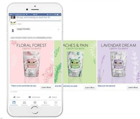 """Пастельный дизайн рекламы Instagram для ванной product """"width ="""" 558 """"height ="""" 474"""