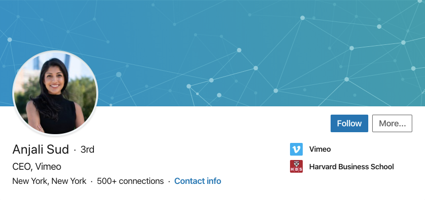 "Скриншот профиля LinkedIn ""width ="" 869 ""height ="" 410"