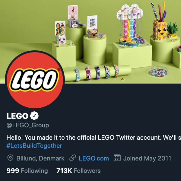 Аватар для LEGO в Твиттере