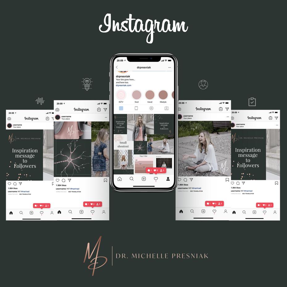 """Содержимое Instagram и дизайн страницы профиля """"width ="""" 3000 """"height ="""" 3000"""