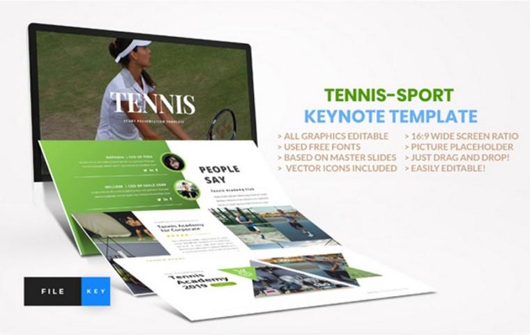 Tennis Keynote шаблоны