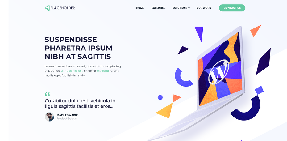 """Дизайн веб-страницы с геометрическими цветами """"width ="""" 2018 """"height ="""" 989 """"/>    <figcaption> Этот веб-дизайн ☪ekidot сочетает смелые визуальные элементы с ненавязчивым пробелом </figcaption></figure> <h2><span id="""