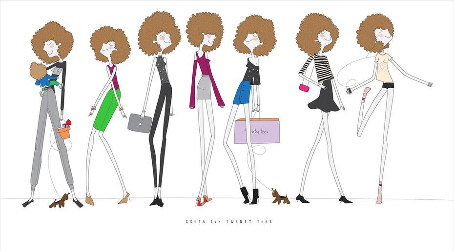 """Иллюстрации персонажей, на которых изображена мультяшная женщина в разных нарядах """"width ="""" 2040 """"height ="""" 1129 """"/>    <figcaption> Изображение вашего бренда как личности может помочь вам решить, какие визуальные« наряды »подходят. NataMarmelada. </figcaption></figure> <p> Подобные вопросы и многие другие помогают вам увидеть свой бренд как персонажа, каким он будет выглядеть и звучать, если бы он был реальным человеком. Видеть свой бренд как личность упростит распознавание того, какие визуальные «наряды» подходят, а какие нет, когда вы создаете свою визуальную идентичность. </p> <h3><span id="""