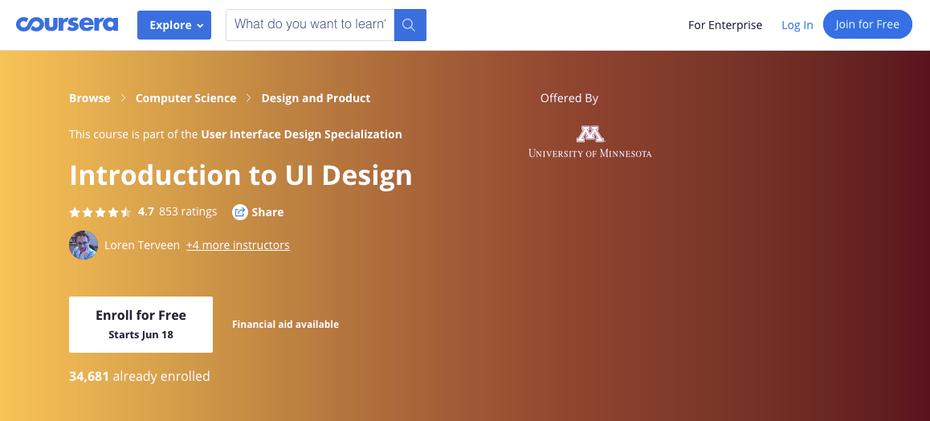 """Снимок экрана учебных пособий по веб-дизайну Coursera """"width ="""" 1158 """"height ="""" 524 """"/>    <figcaption> через Coursera.com </figcaption></figure> <p> <strong> О Coursera: </strong> </p> <p> Из всех учебных пособий по веб-дизайну из этого списка Coursera больше всего похожа на настоящий колледж, особенно потому, что они предлагают аккредитованные курсы для колледжей и участвуют в онлайн-программах для университетов по всему миру. </p> <p> Coursera <em> огромна </em> и занимается вопросами, выходящими далеко за рамки только веб-дизайна, но только потому, что они не специализируются исключительно на веб-дизайне, не означает, что их классы неадекватны. Большинство их уроков приходят непосредственно из университетов и преподаются профессорами. А поскольку они такая большая организация, вы можете найти занятия на разных языках на разные темы. </p> <p> <strong> Особенности: </strong> </p> <ul> <li> Веб-разработка </li> <li> Отзывчивые учебники веб-дизайна </li> <li> UX design </li> <li> Информатика </li> <li> Контент-маркетинг </li> <li> Графический дизайн </li> <li>… у них есть почти все темы, покрытые </li> </ul> <p> <strong> Цена: </strong> </p> <ul> <li> Расходы на Coursera сильно различаются; вы найдете бесплатные образцы уроков наряду с онлайн-программами за $ 15 000. </li> <li> Как и в случае обучения в колледже, у них есть варианты финансовой помощи. </li> </ul> <p> <strong> Рекомендуется для: </strong> </p> <ul> <li> Учащиеся, которые хотят получить действительную степень или сертификаты </li> <li> Носители английского языка </li> </ul> <h3><span id="""